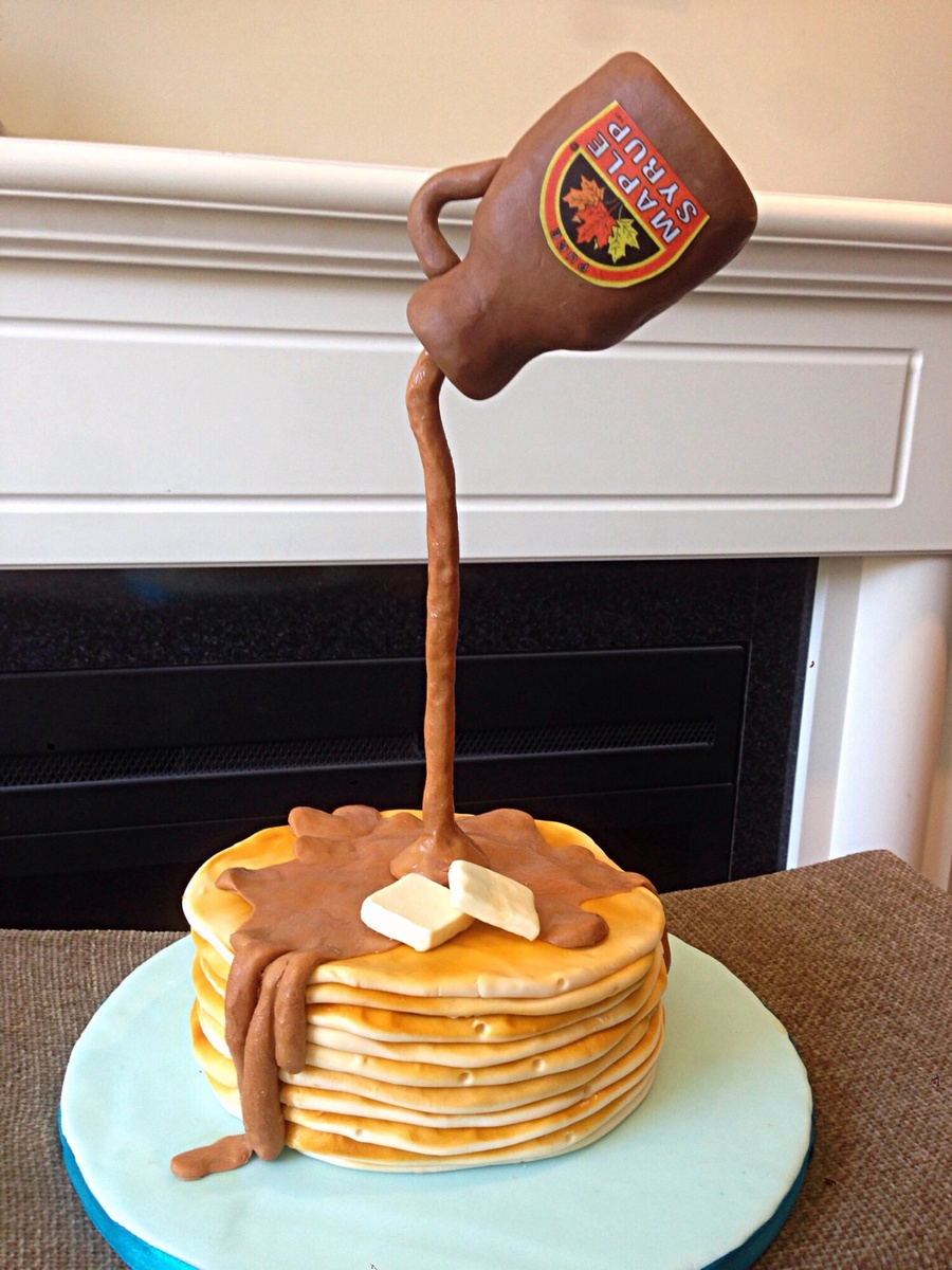 Gravity Defying Pancake Cake on Cake Central