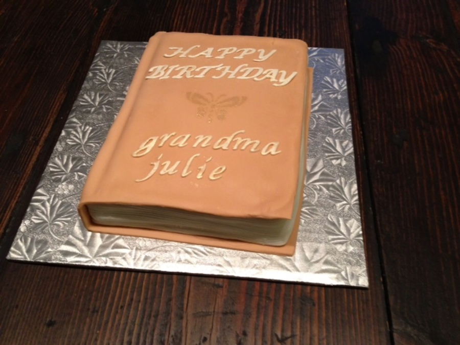 Book Birthday Cake on Cake Central