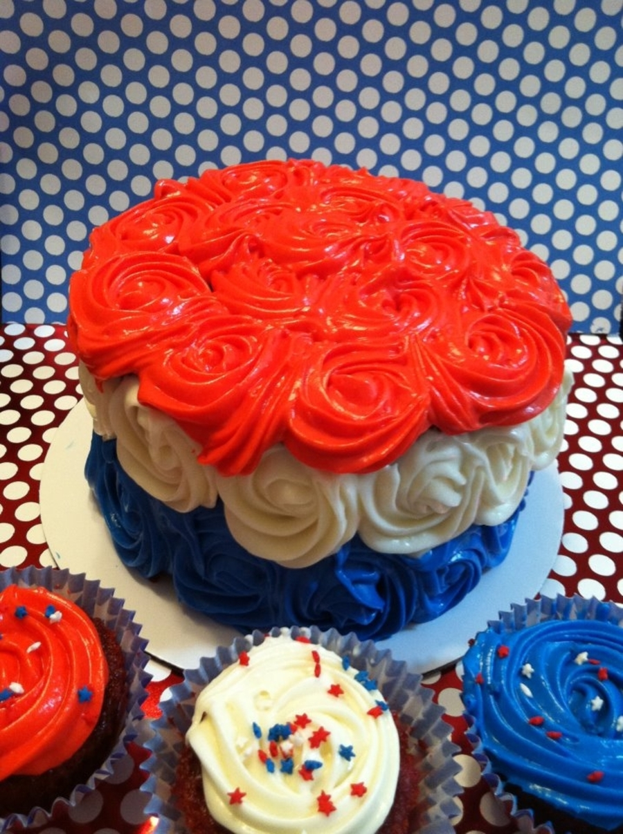 Red White And Blue Happy Birthday America Cakecentral