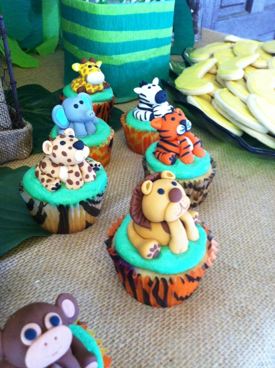 Jungle/safari Baby Shower Cupcakes on Cake Central