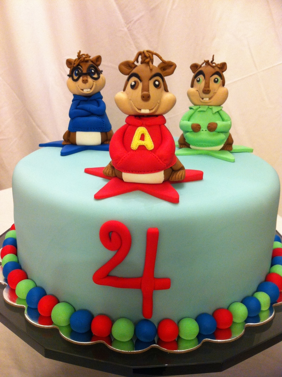 Fabulous Alvin And The Chipmunks Cakecentral Com Funny Birthday Cards Online Sheoxdamsfinfo