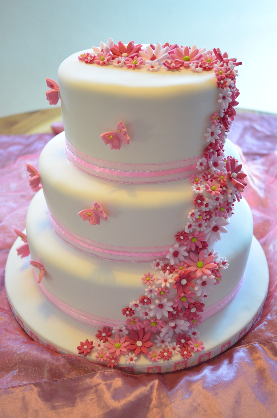 Pretty In Pink Wedding on Cake Central