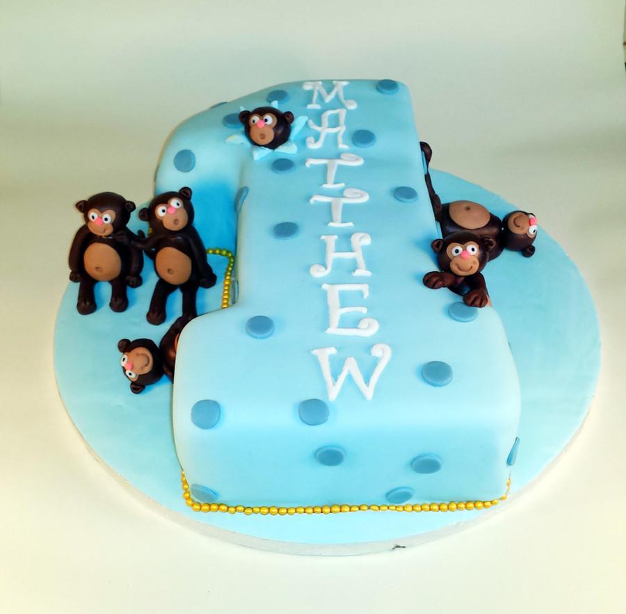 Super Cheeky Monkey First Birthday Cake Cakecentral Com Personalised Birthday Cards Veneteletsinfo