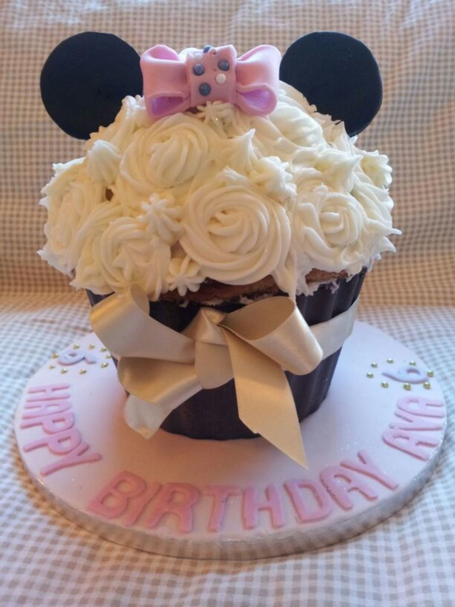 Minnie Mouse Giant Cupcake on Cake Central