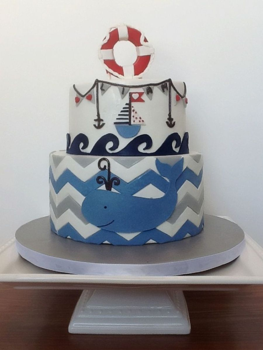 Permalink to Nautical Baby Shower Cakes