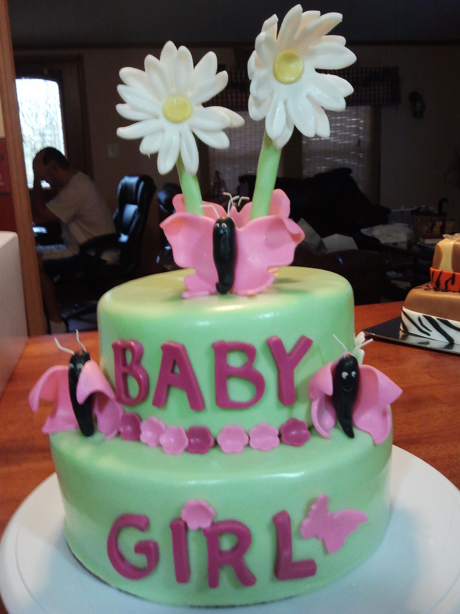 Fondant Baby Shower Cake on Cake Central
