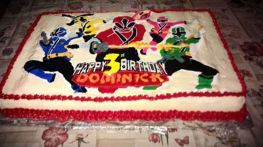 Power Rangers Cake Tutorials