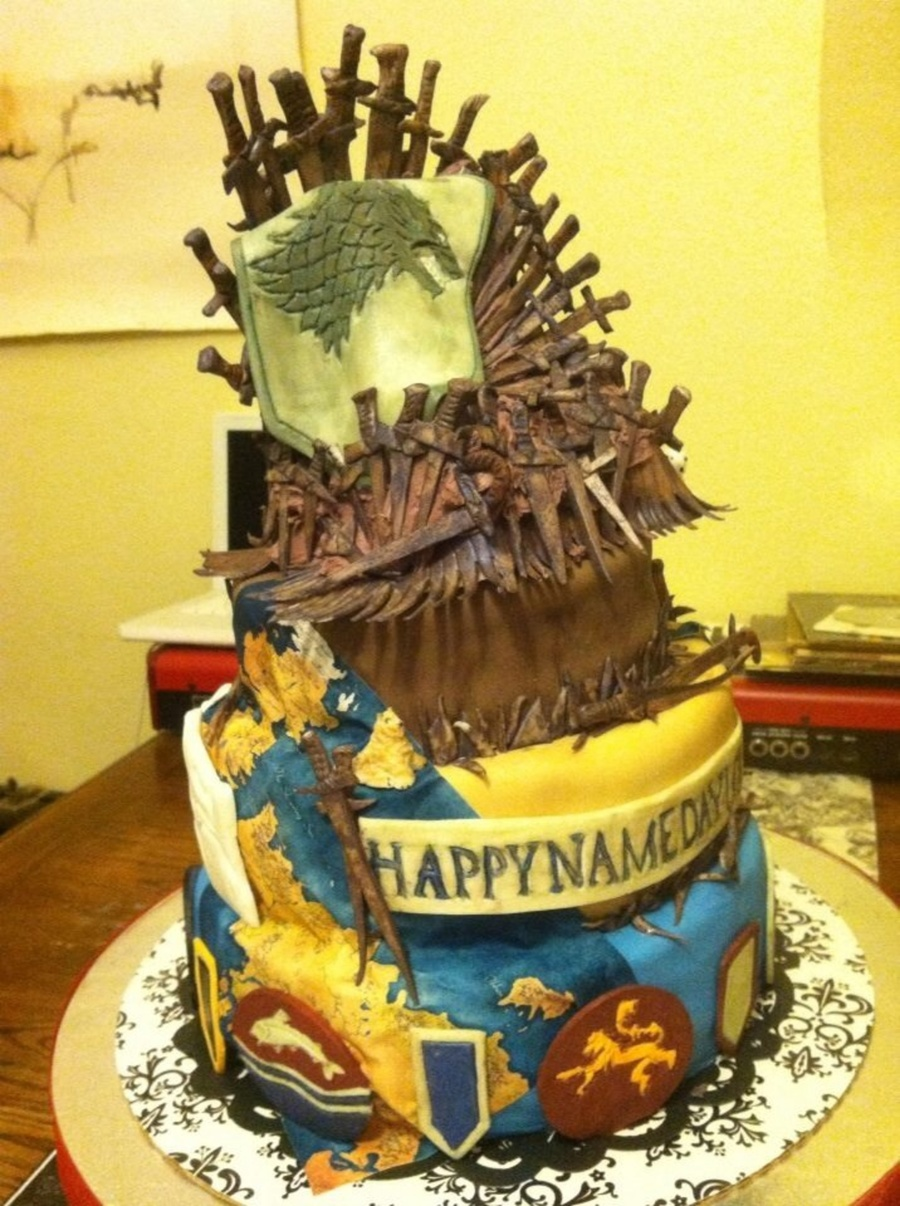 Name Day Game Of Thrones Cake Cakecentral Com
