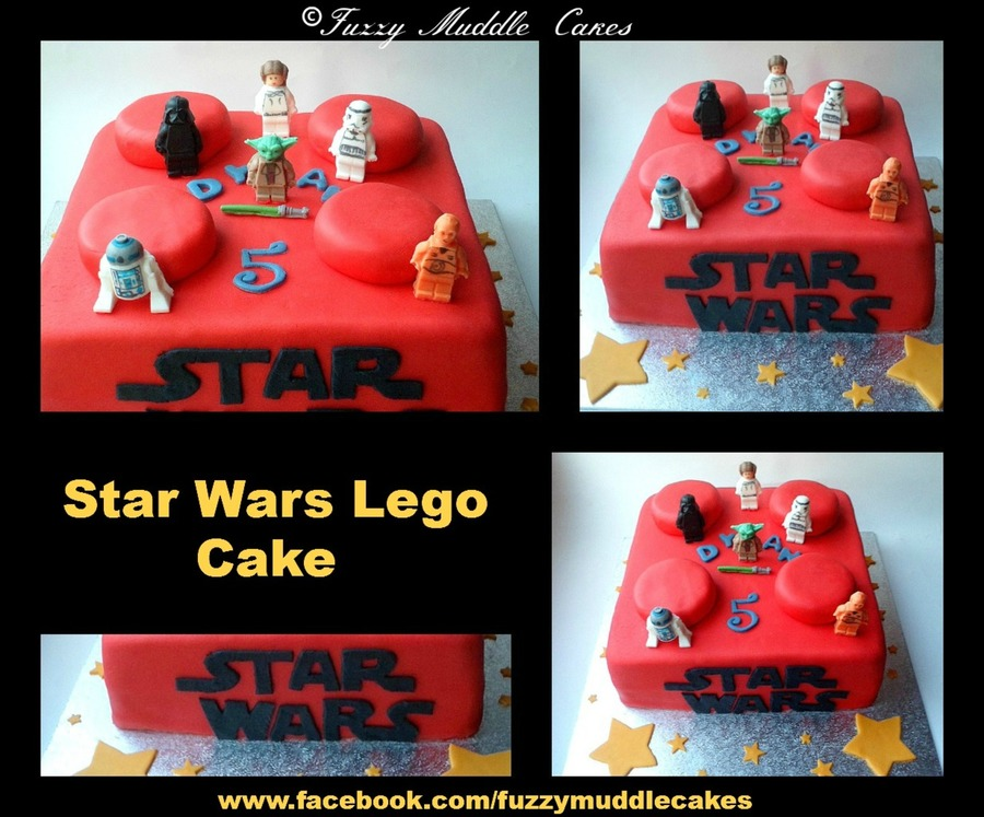 Lego Star Wars Cakeall Figures Where Made By Myself Out Of Sugar Paste on Cake Central