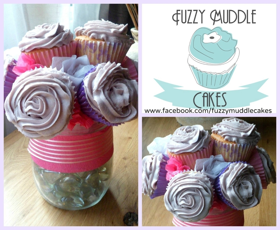 Funky Cupcake Bouquet on Cake Central