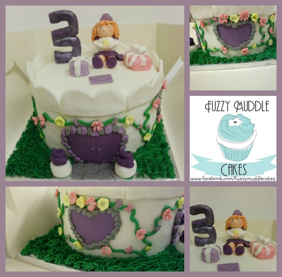 Purple Princess Tower Castle Cake on Cake Central