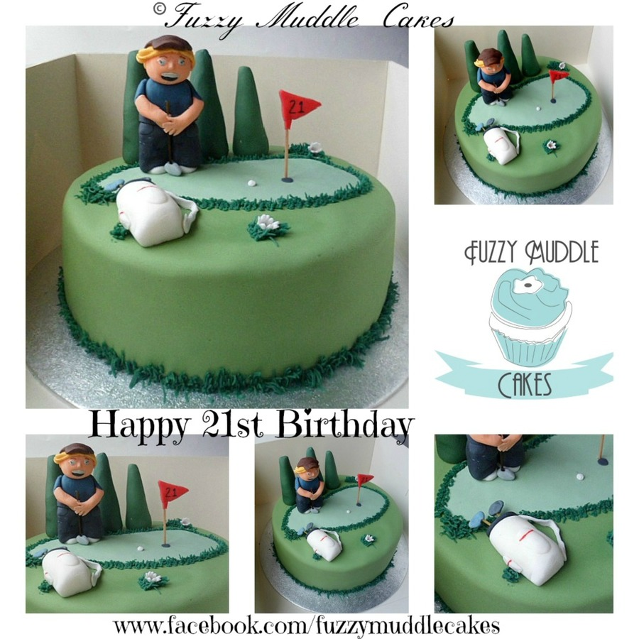 Golf Style Cake on Cake Central