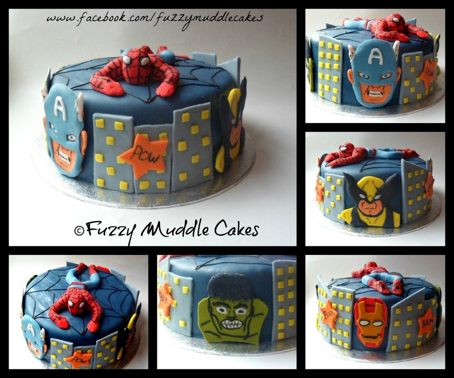Marvel Super Heroes Cake on Cake Central