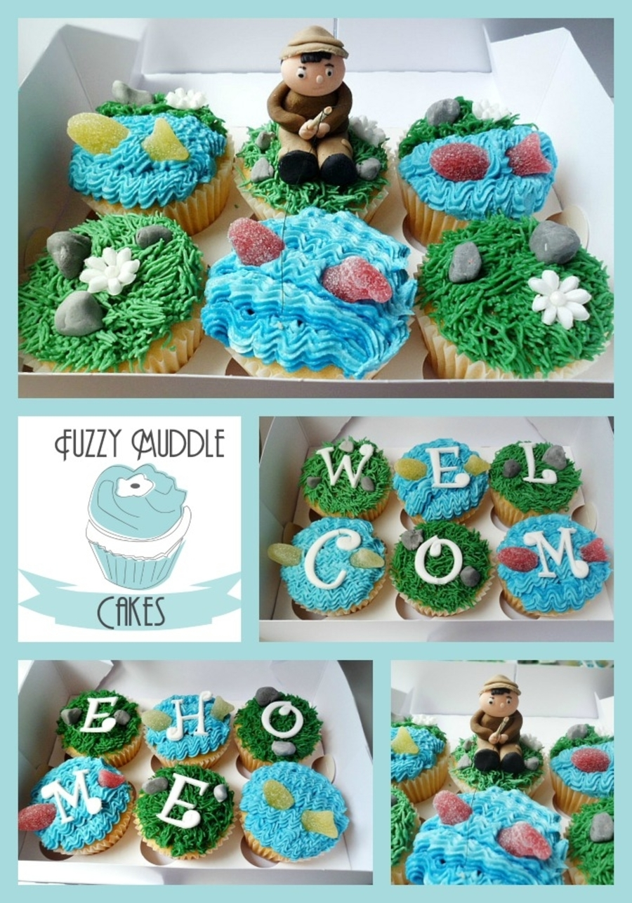 Welcome Home Fishing Cupcakes
