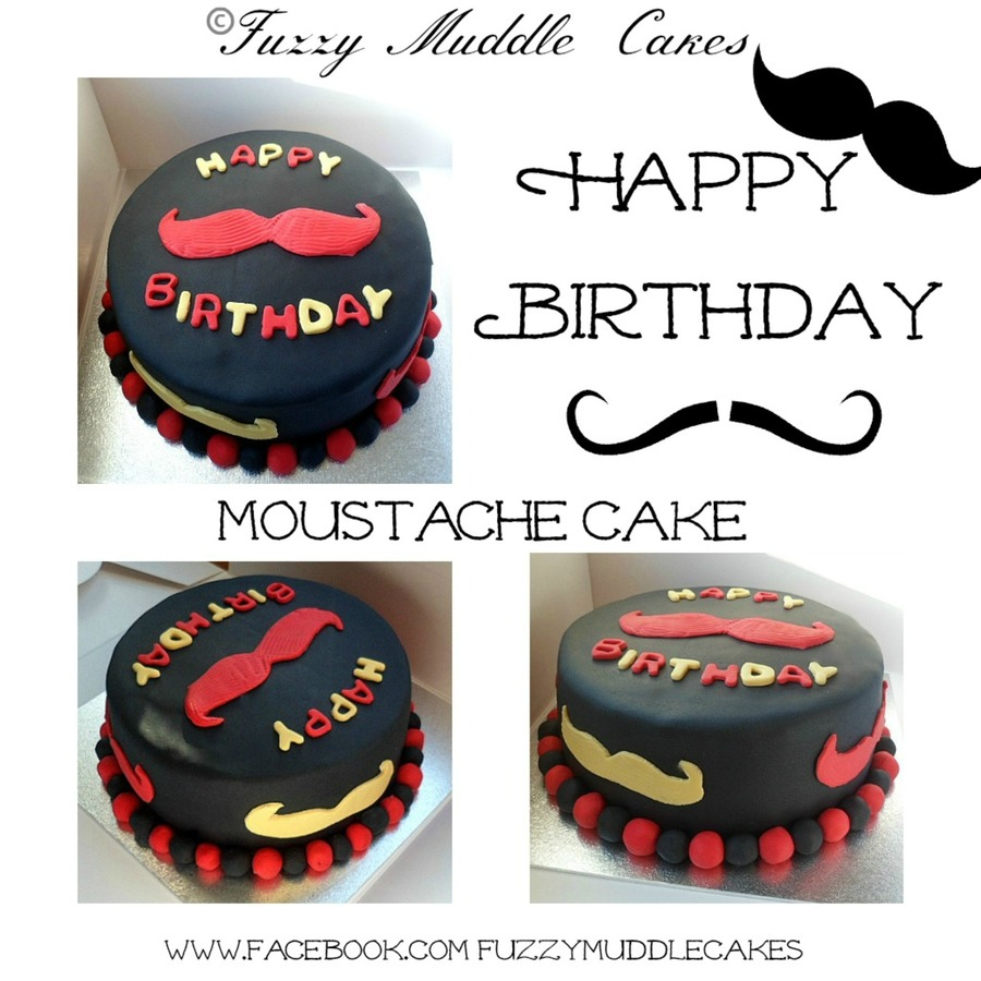 Moustache Cake on Cake Central