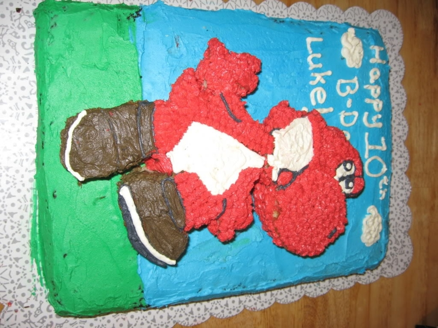 Red Yoshi Cake on Cake Central