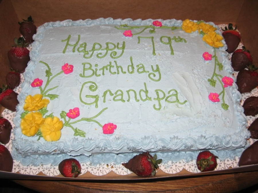 Grandfather S Birthday Cake Cakecentral Com