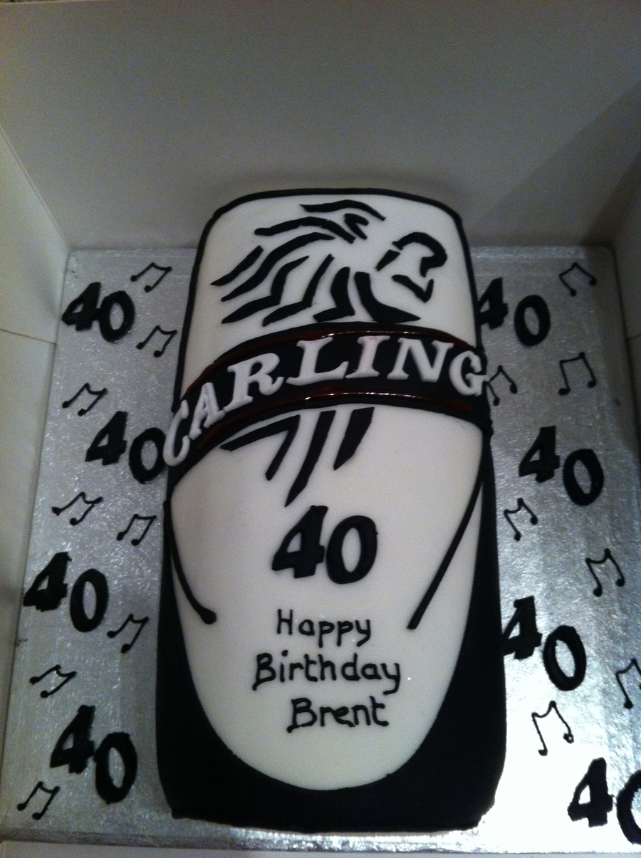 Carling Can on Cake Central