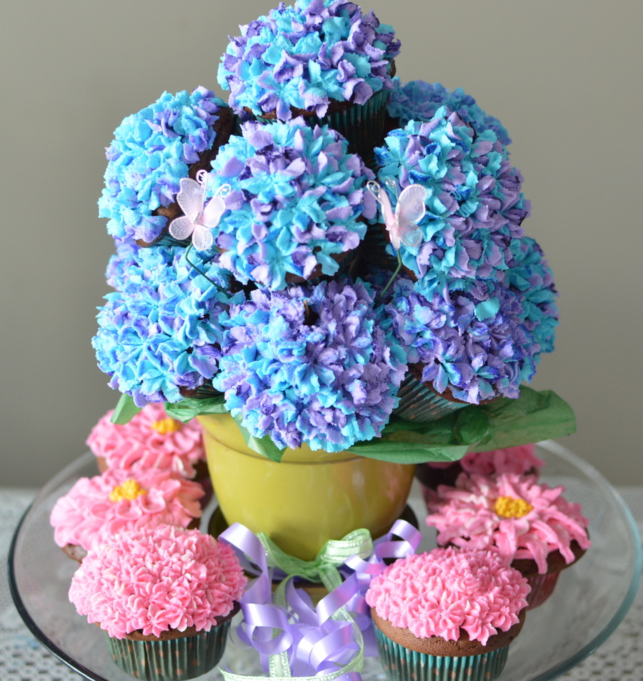Hydrangea Bouquet  on Cake Central