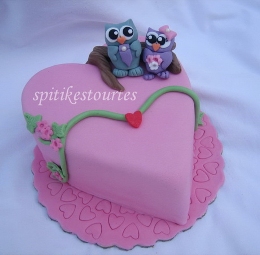 Owls In Love on Cake Central