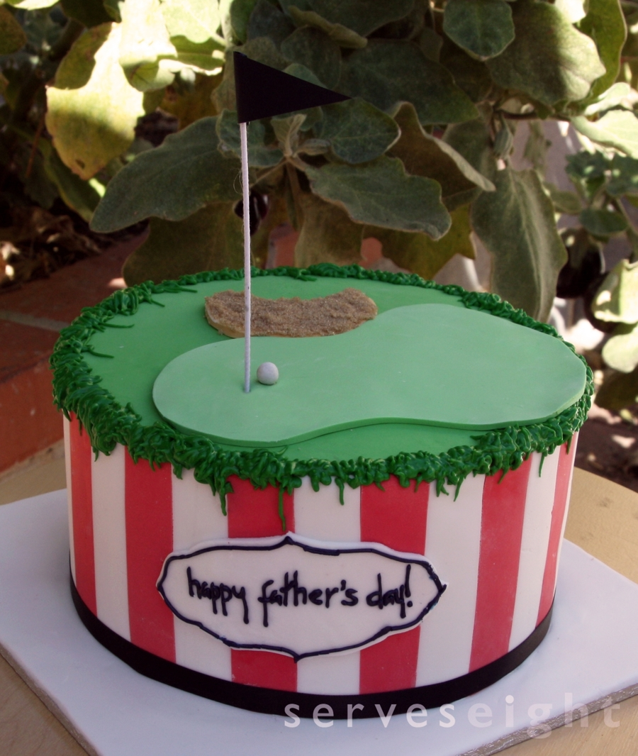 Father's Day Golf Cake on Cake Central
