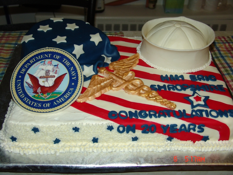 Corpsman Cake on Cake Central
