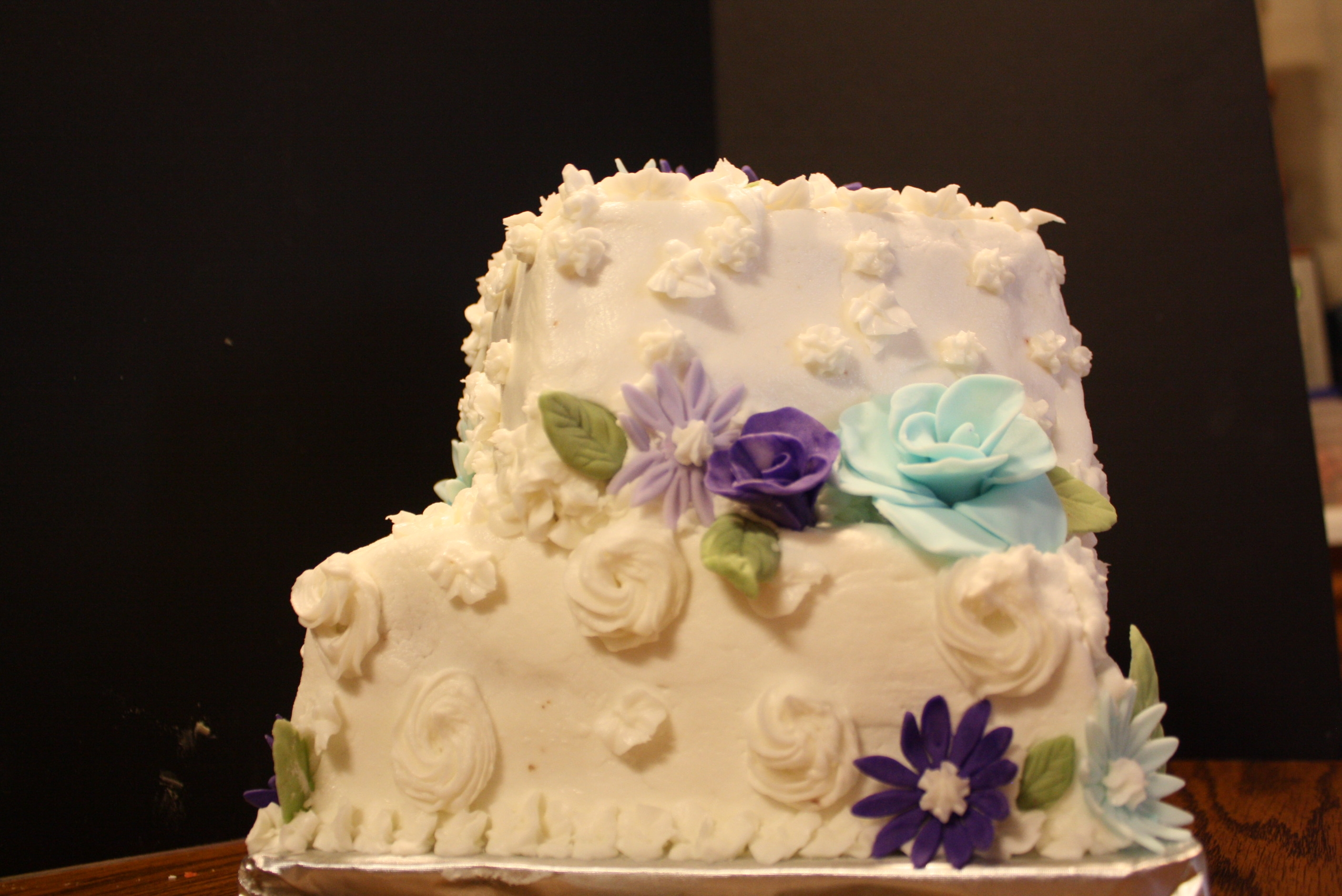 Small Wedding Cake, Bridal Shower, Or Just A Tiered Birthday ...