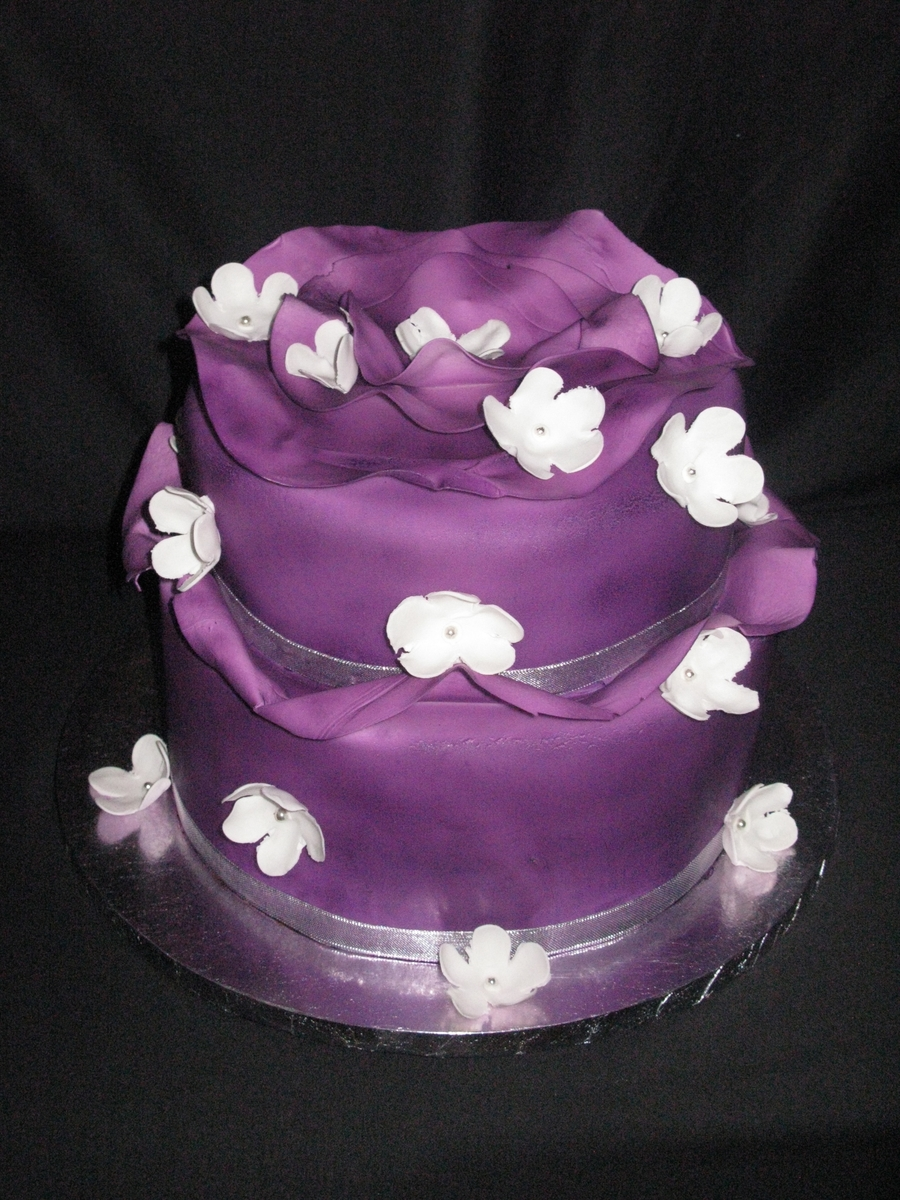 Purple Wave Cake on Cake Central