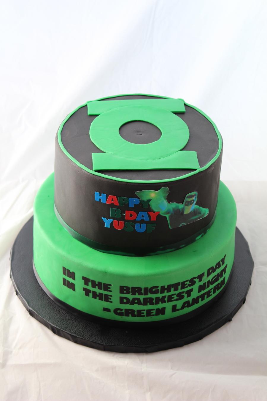 Green Lantern Cake Cakecentral Com