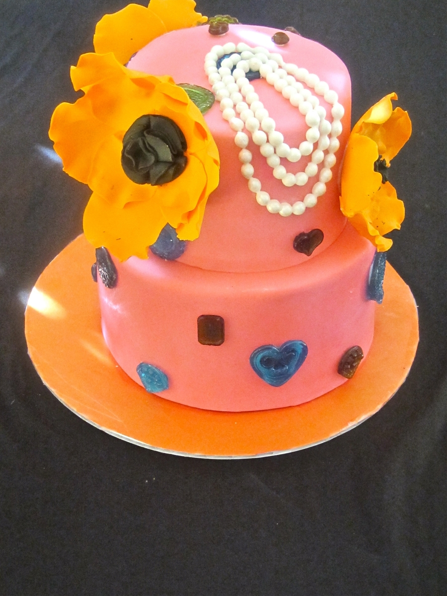 Jewelry Theme Baby Shower Cake  on Cake Central