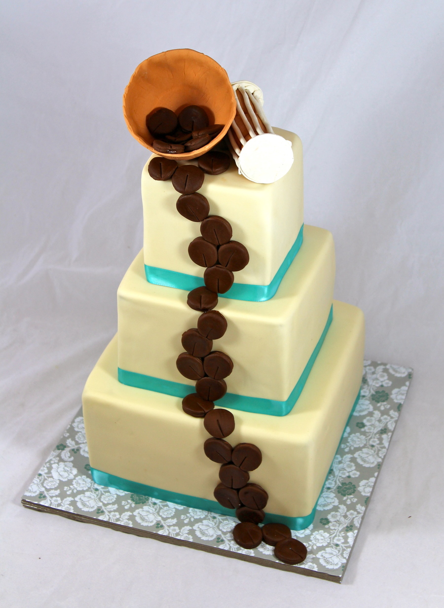 Nigerian Engagement Cake Theme With African Drum And A Bowl With Kola Nuts Spilling Out on Cake Central