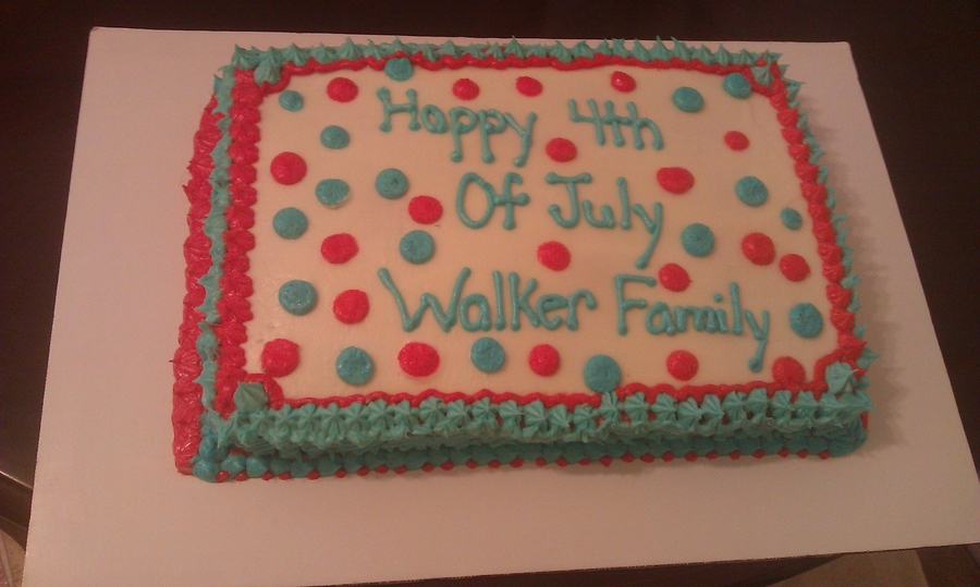 Happy Fourth! on Cake Central
