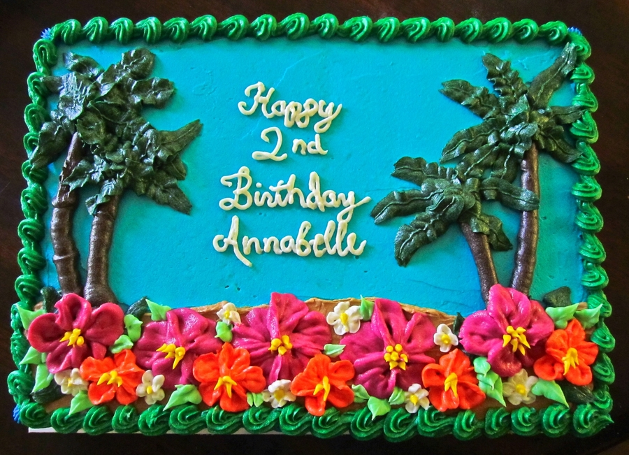 Admirable Luau Theme Birthday Cake Cakecentral Com Personalised Birthday Cards Cominlily Jamesorg