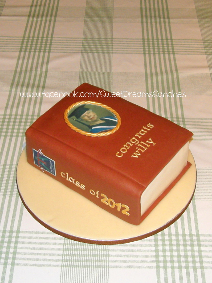 11 Graduation Book Cake on Cake Central