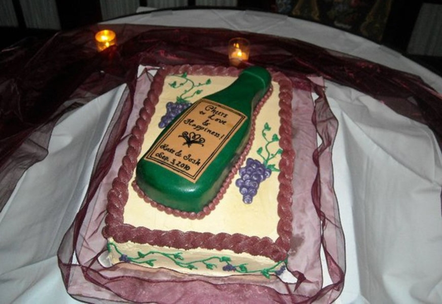 Wine Bottle on Cake Central