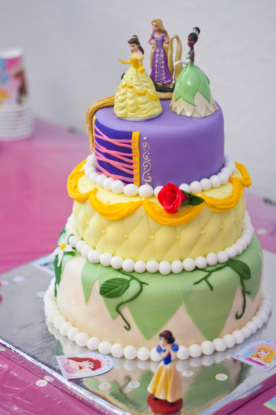 3 Tier Princess Cake on Cake Central
