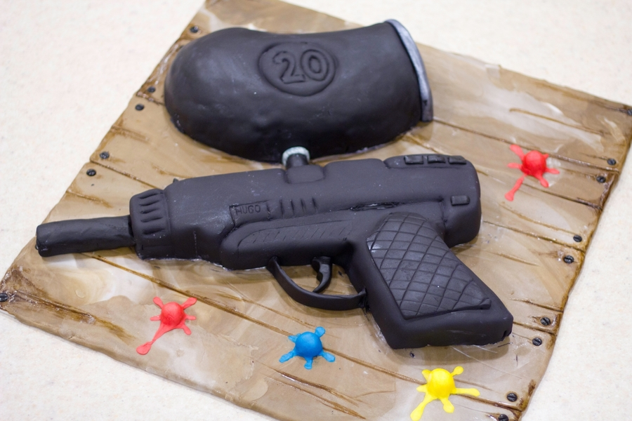 Paintball Gun - Cake Outside The Box on Cake Central