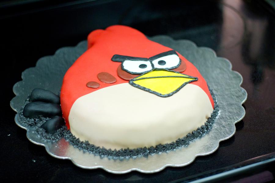 Red Angry Bird Cake Custom Cakes Angry Bird Miami Cakes Cake