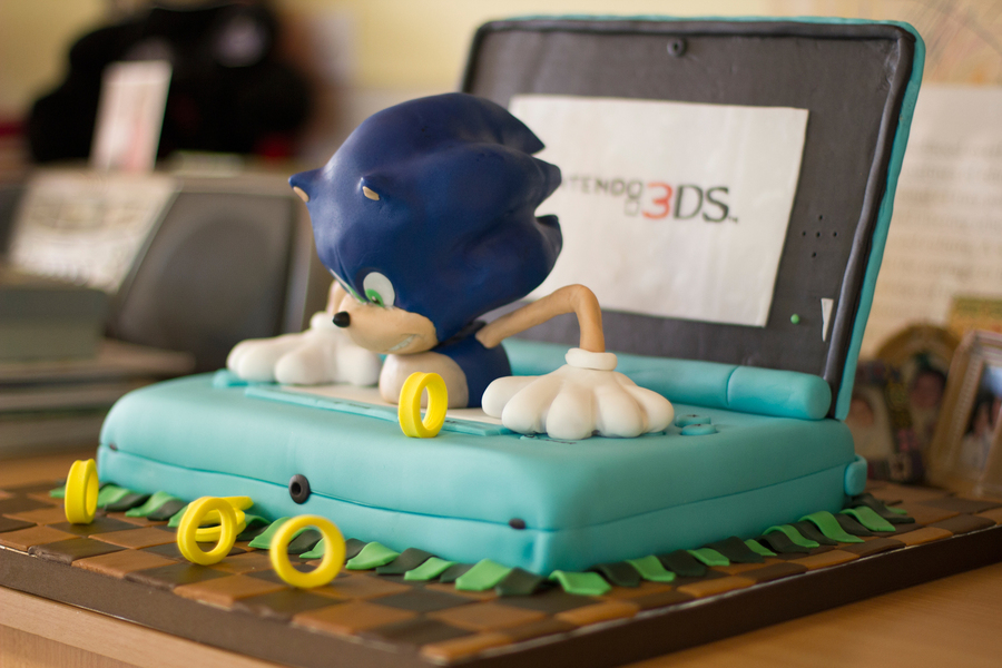 Mini Sonic Nintendo 3ds Cake Small Version From Our Sonic 3d Cake