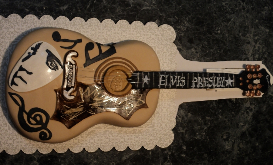 Elvis Guitar on Cake Central