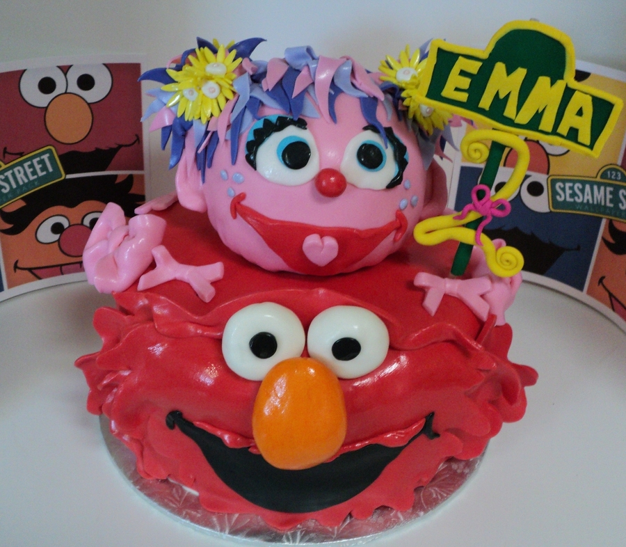 Elmo & Abby on Cake Central
