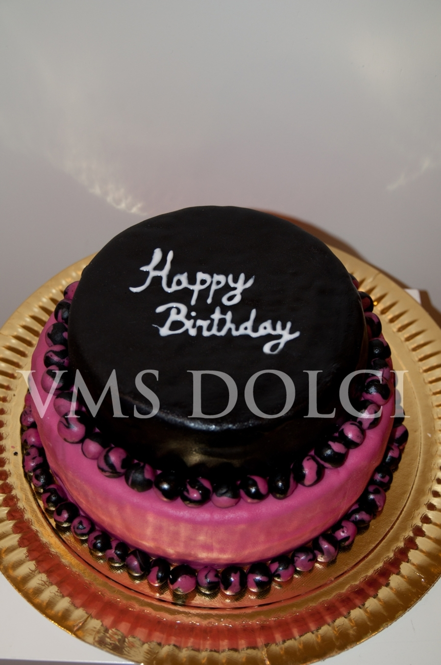 Black And Pink Cake on Cake Central