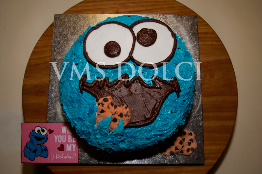 Cookie Monster Cake  on Cake Central