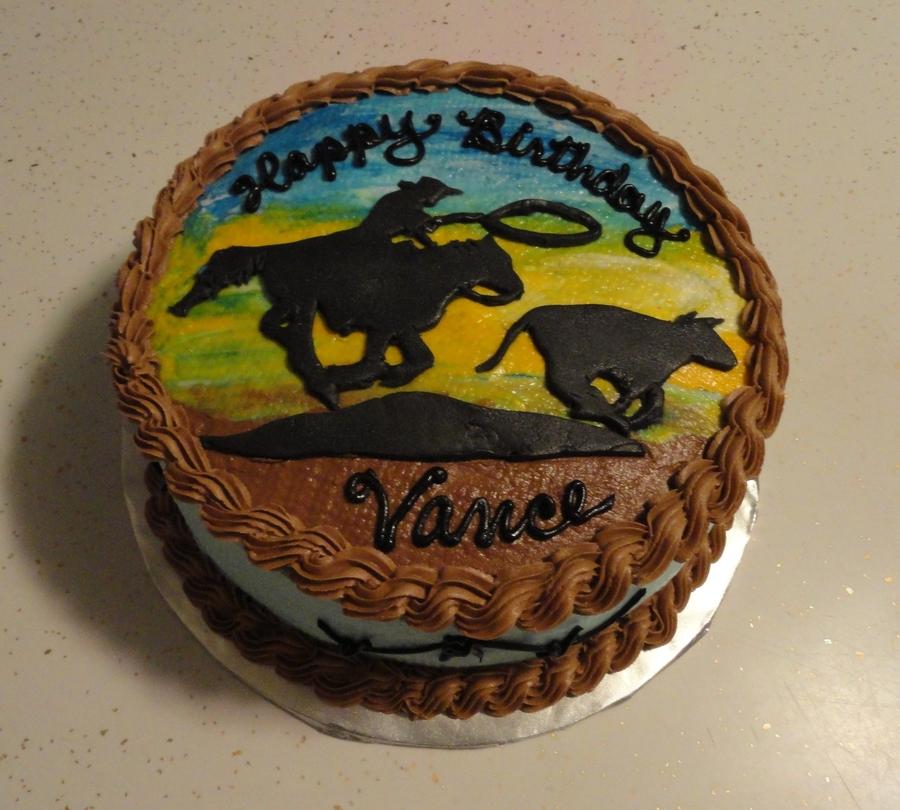 Amazing Western Birthday Cake Cakecentral Com Birthday Cards Printable Benkemecafe Filternl