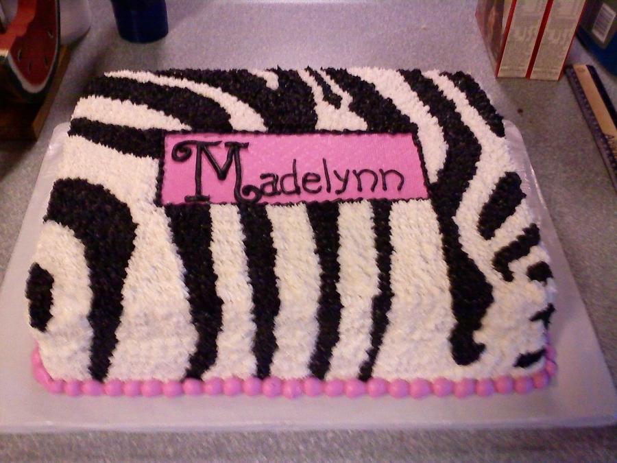 Zebra Print Baby Shower Cake On Cake Central