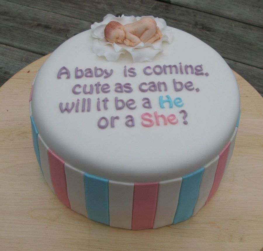 Inside Of Gender Reveal Cake