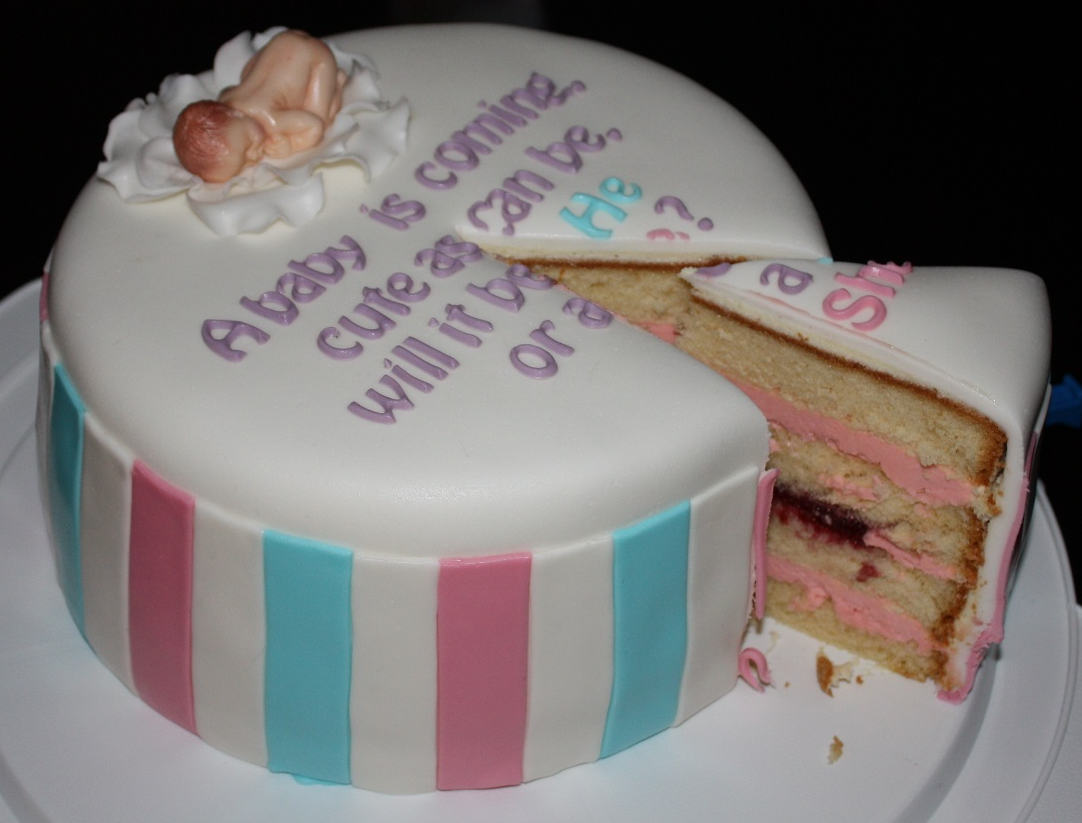 Gender Reveal Cake Photo Of Inside Will Be Send