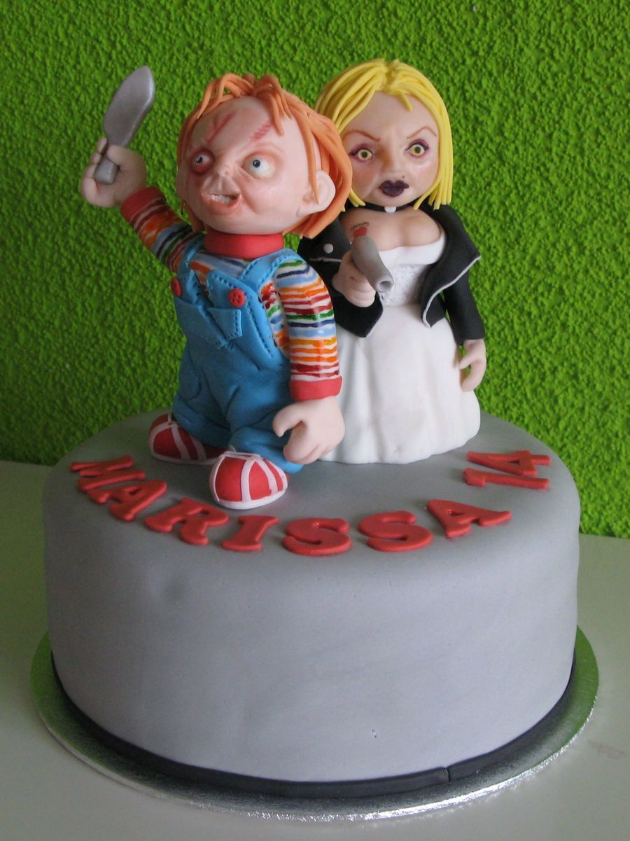 Remarkable Chucky And Bride Cake Cakecentral Com Funny Birthday Cards Online Sheoxdamsfinfo