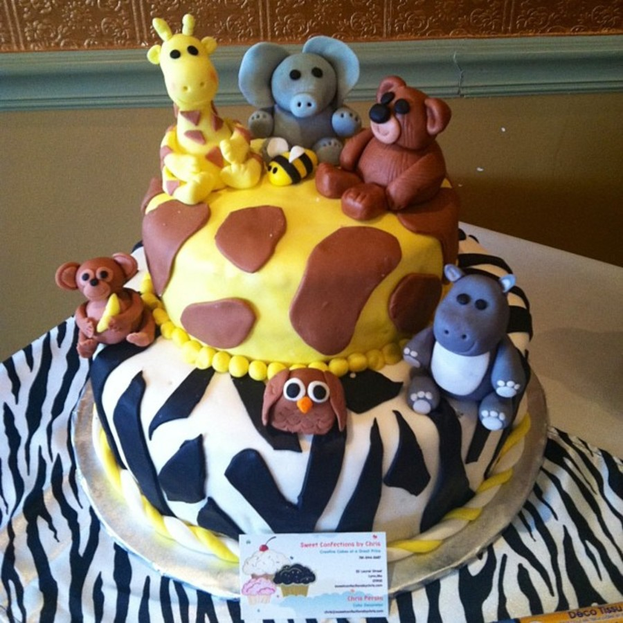 Animal Baby Cake on Cake Central