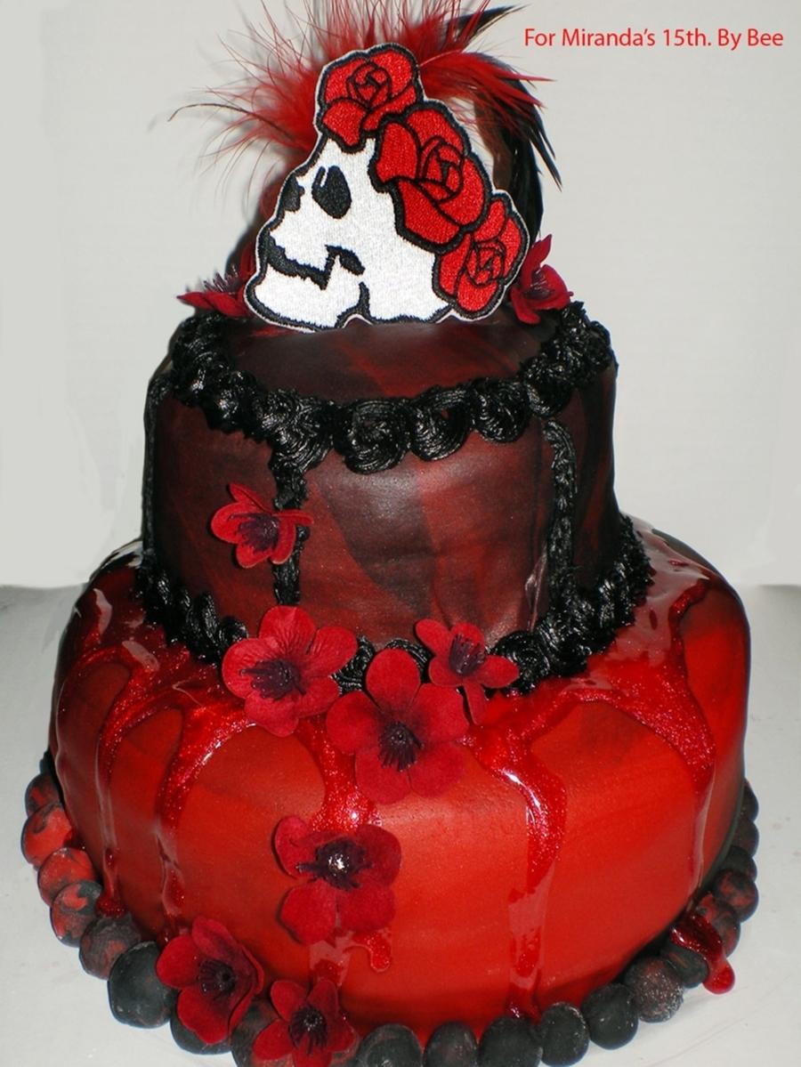Fantastic Gothic Birthday Cake Cakecentral Com Funny Birthday Cards Online Inifofree Goldxyz